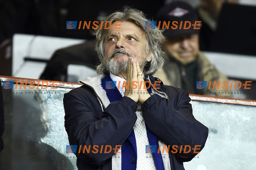 Massimo Ferrero Sampdoria <br /> Genoa 10-12-2016 Stadio Marassi Football Calcio Serie A 2016/2017 Sampdoria - Lazio foto Image Sport/Insidefoto