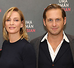 Uma Thurman and Josh Lucas attends the Meet & Greet Photo Call for the cast of Broadways 'The Parisian Woman' at the New 42nd Street Studios on October 18, 2017 in New York City.