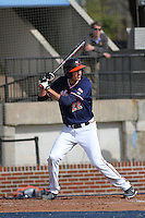 University of Virginia Cavaliers infielder Daniel Pinero #22 at bat during a game against the University of Kentucky Wildcats at Brooks Field on the campus of the University of North Carolina at Wilmington on February 14, 2014 in Wilmington, North Carolina. Kentucky defeated Virginia by the score of 8-3. (Robert Gurganus/Four Seam Images)