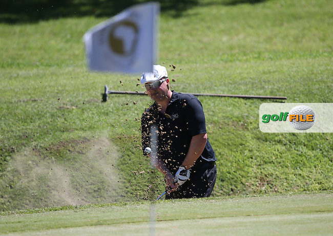 Chris Doak (SCO) finds the sand on the 14th during Round Three of the Africa Open 2015 at the East London Golf Club, East London, Eastern Cape, South Africa. Picture:  David Lloyd / www.golffile.ie. 07/03/2015
