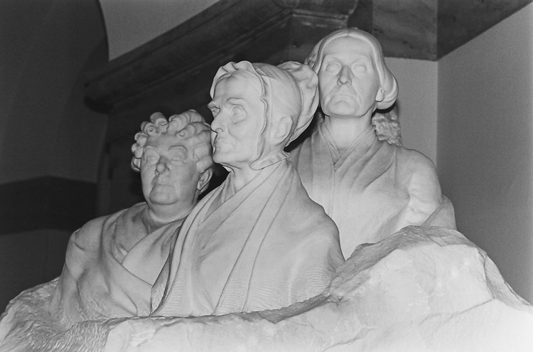 Close-up of The Women's Suffrage Statue, in October 1995. (Photo by Laura Patterson/CQ Roll Call via Getty Images)