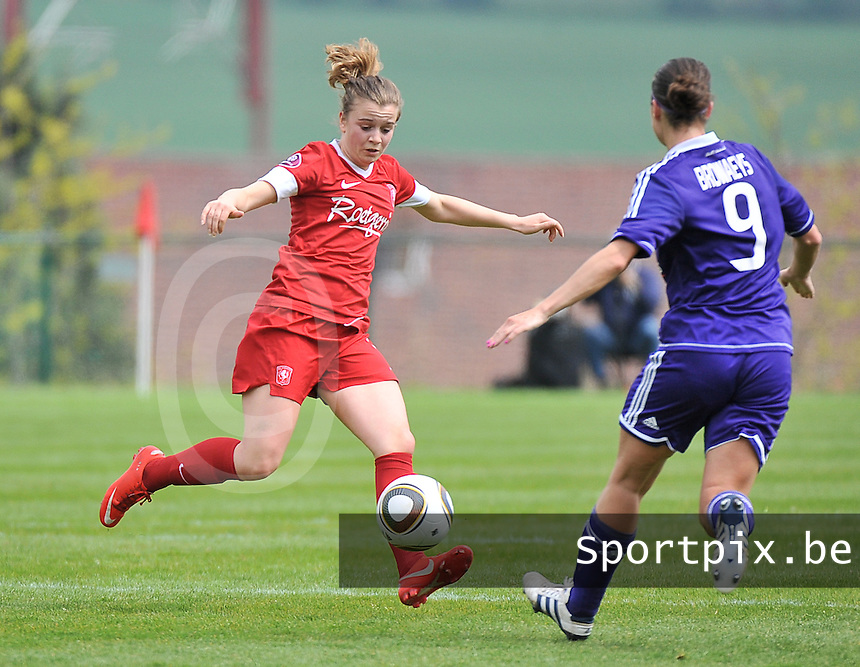 RSC Anderlecht Dames - FC Twente : Maud Roetgering.foto DAVID CATRY / Nikonpro.be