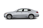 Car Driver side profile view of a 2015 Infiniti Q70 Premium 4 Door Sedan 2WD Side View