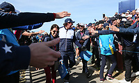 Phil Mickelson (Team USA) leaving the 17th during Saturday's Fourballs, at the Ryder Cup, Le Golf National, Île-de-France, France. 29/09/2018.<br /> Picture David Lloyd / Golffile.ie<br /> <br /> All photo usage must carry mandatory copyright credit (© Golffile | David Lloyd)