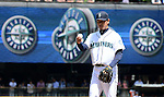 Hisashi Iwakuma (Mariners),<br /> JUNE 5, 2013 - MLB :<br /> Pitcher Hisashi Iwakuma of the Seattle Mariners stands on the mound during the baseball game against the Chicago White Sox at Safeco Field in Seattle, Washington, United States. (Photo by AFLO)