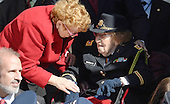 108 year old LTC Luta Mae Cornelius McGrath, the nation's oldest living female WW II Veteran, attends a ceremony at Arlington National Cemetery, November 11 , 2015 in Arlington, Virginia.  United States President Barack Obama is visiting Arlington National Cemetery for aVeteran's Day Observance.<br /> Credit: Olivier Douliery / Pool via CNP