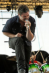 Rick DeJesus of Adelitas Way performs during the Carnival of Madness tour at the Kentucky State Fair's Cardinal Stadium on Friday, August 26, 2011.