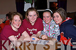 Marian O'Shea, Shannon Ahern, Zoe McHale and Katie Hunt testing their brain matter at the Killarney Athletic table quiz in the Killarney Oaks Hotel on Friday night    Copyright Kerry's Eye 2008