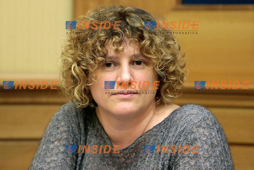 Elisa Bulgarelli<br /> Roma 28-01-2014 Sala Stampa della Camera. Conferenza stampa del Movimento 5 Stelle, M5S, 'La lettera a Napolitano'.<br /> Photo Samantha Zucchi Insidefoto