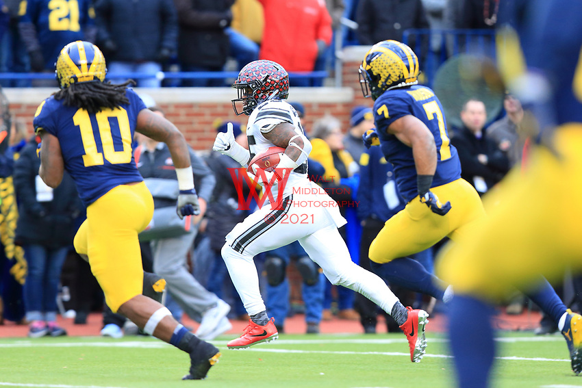 The Ohio State University football team defeat that team up north 31-20. Ann Arbor, MI. November 25, 2017
