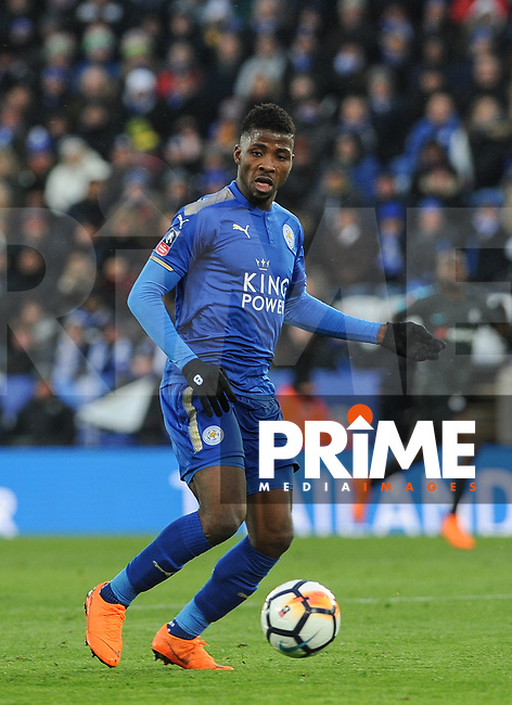 Kelechi Iheanacho of Leicester City during the FA Cup QF match between Leicester City and Chelsea at the King Power Stadium, Leicester, England on 18 March 2018. Photo by Stephen Buckley / PRiME Media Images.
