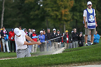 Rafa Cabrera Bello (Team Europe) plays from the bunker  during Thursday's Practice Round ahead of The 2016 Ryder Cup, at Hazeltine National Golf Club, Minnesota, USA.  29/09/2016. Picture: David Lloyd | Golffile.