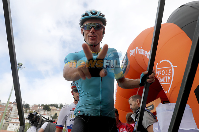 Luis Leon Sanchez (ESP) Astana Pro Team at sign on before Stage 15 of La Vuelta 2019  running 154.4km from Tineo to Santuario del Acebo, Spain. 8th September 2019.<br /> Picture: Luis Angel Gomez/Photogomezsport | Cyclefile<br /> <br /> All photos usage must carry mandatory copyright credit (© Cyclefile | Luis Angel Gomez/Photogomezsport)