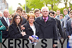 Donal Walsh's family at his funeral at Saint Johns Church, Tralee on Wednesday.