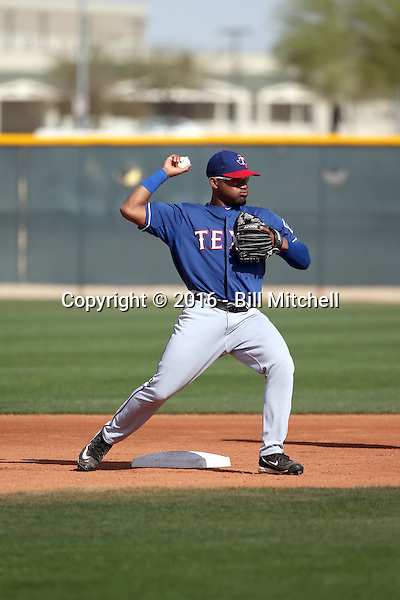 Andy Ibaniez - Texas Rangers 2016 spring training (Bill Mitchell)