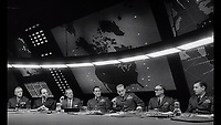 Dr. Strangelove or: How I Learned to Stop Worrying and Love the Bomb (1964)<br /> George C. Scott<br /> *Filmstill - Editorial Use Only*<br /> CAP/KFS<br /> Image supplied by Capital Pictures