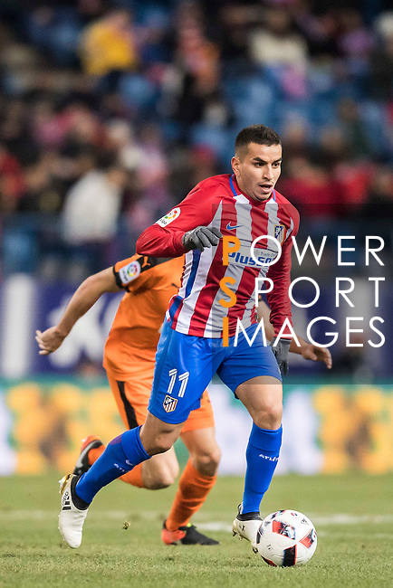 Angel Correa of Atletico de Madrid in action during their Copa del Rey 2016-17 Quarter-final match between Atletico de Madrid and SD Eibar at the Vicente Calderón Stadium on 19 January 2017 in Madrid, Spain. Photo by Diego Gonzalez Souto / Power Sport Images