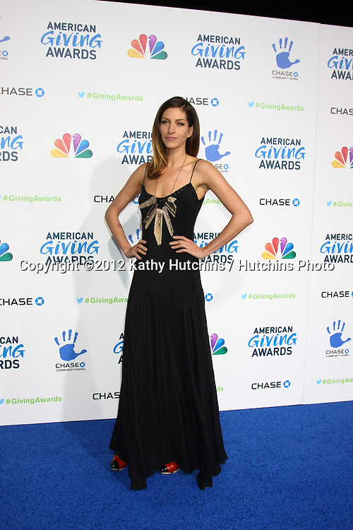 LOS ANGELES - DEC 7:  Dawn Olivieri arrives to the 2012 American Giving Awards at Pasadena Civic Center on December 7, 2012 in Pasadena, CA
