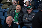 Two neutral visiting Plymouth Argyle fans pictured in the main stand before AFC Fylde took on Aldershot Town in a National League game at Mill Farm, Wesham. The fixture was played against the backdrop of the total postponement of all Premier League and EFL football matches due to the the coronavirus outbreak. The home team won the match 1-0 with first-half goal by Danny Philliskirk watched by a crowd of 1668.