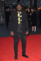 "Babou Ceesay<br /> at the London Film Festival 2016 premiere of ""Free Fire at the Odeon Leicester Square, London.<br /> <br /> <br /> ©Ash Knotek  D3182  16/10/2016"