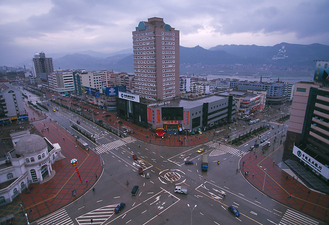 The new city of Fengdu to replace the old city that was razed for the 3 Gorges Project in China
