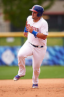 Buffalo Bisons designated hitter Jesus Montero (48) running the bases during a game against the Louisville Bats on June 23, 2016 at Coca-Cola Field in Buffalo, New York.  Buffalo defeated Louisville 9-6.  (Mike Janes/Four Seam Images)