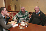 Jim and Anthony Kimmins, brothers of the late Des Kimmins being interviewed by Declan Brennan....Photo NEWSFILE.(Photo credit should read NEWSFILE)....This Picture has been sent you under the condtions enclosed by:.Newsfile Ltd..The Studio,.Millmount Abbey,.Drogheda,.Co Meath..Ireland..Tel: +353(0)41-9871240.Fax: +353(0)41-9871260.GSM: +353(0)86-2500958.email: pictures@newsfile.ie.www.newsfile.ie.FTP: 193.120.102.198.