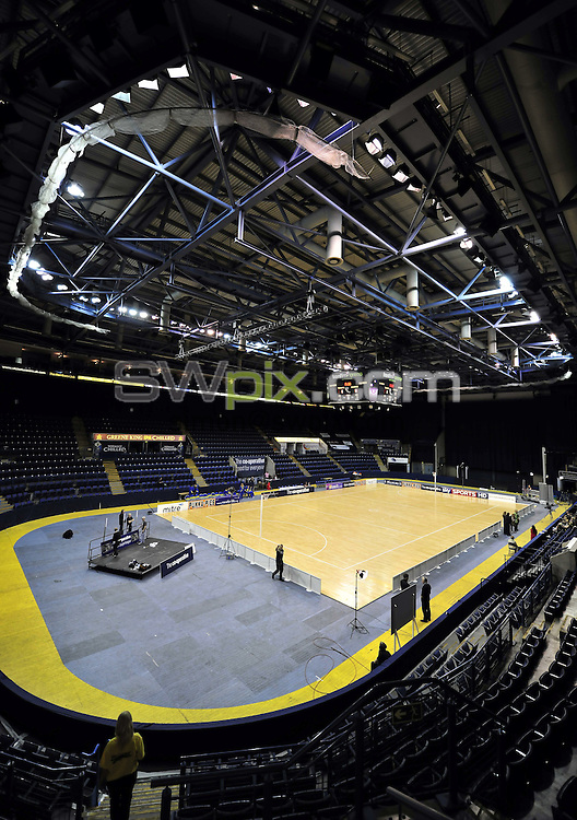 PICTURE BY VAUGHN RIDLEY/SWPIX.COM - Netball - Superleague Grand Final - Bath v Mavericks - Trent FM Arena, Nottingham, England - 15/05/10...Copyright - Simon Wilkinson - 07811267706...Branding, Advertising, Sponsor Boards, GV, General View.