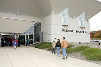 Visitors arrive at the National Soccer Hall of Fame and Museum prior to the 2004 Hall of Fame induction ceremony on Monday October 11, 2004 at the National Soccer Hall of Fame and Museum, Oneonta, NY..