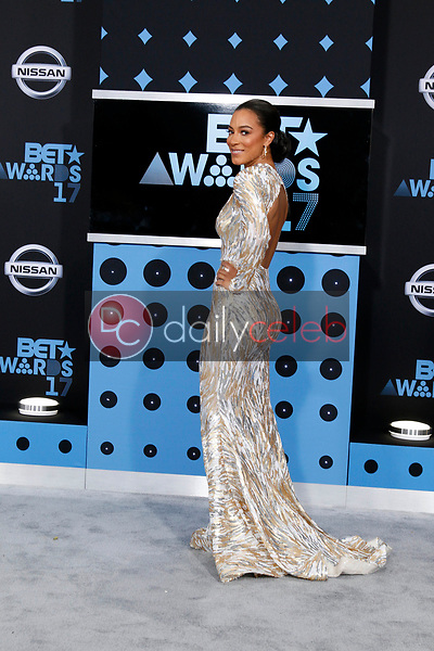 Angela Rye<br /> at the BET Awards 2017, Microsoft Theater, Los Angeles, CA 06-25-17<br /> David Edwards/DailyCeleb.com 818-249-4998