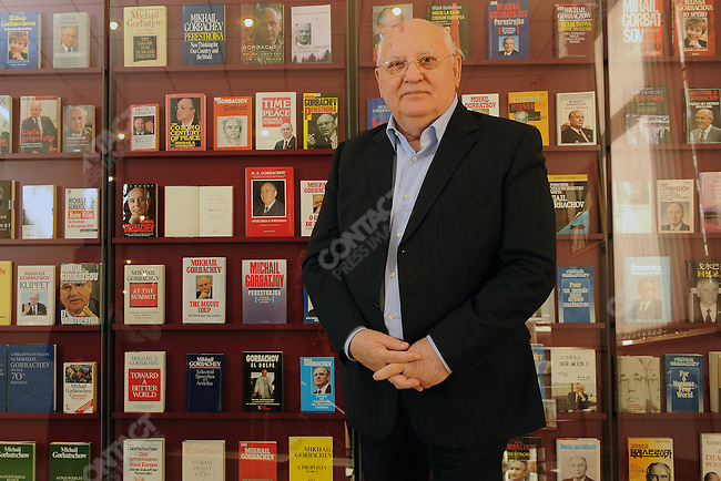 Mikhail Gorbachev, the former leader of the Soviet Union, photographed in the Gorbachev Foundation's building in central Moscow. October 14, 2010