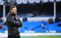 Lincoln City's assistant manager Nicky Cowley during the pre-match warm-up<br /> <br /> Photographer Andrew Vaughan/CameraSport<br /> <br /> Emirates FA Cup Third Round - Everton v Lincoln City - Saturday 5th January 2019 - Goodison Park - Liverpool<br />  <br /> World Copyright &copy; 2019 CameraSport. All rights reserved. 43 Linden Ave. Countesthorpe. Leicester. England. LE8 5PG - Tel: +44 (0) 116 277 4147 - admin@camerasport.com - www.camerasport.com