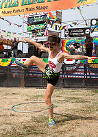 Kat Flows Perfoming with Hula Hoop, Hempfest 2017, Seattle, WA, USA.