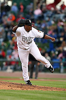 June 17th 2008:  Edgar Estanga of the Lansing Lugnuts, Class-A affiliate of the Toronto Blue Jays, during the Midwest League All-Star Game at Dow Diamond in Midland, MI.  Photo by:  Mike Janes/Four Seam Images