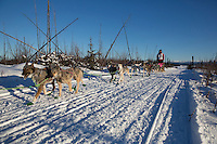 Andrew Nolan on the trail of the 2014 Jr. Iditarod Sled Dog Race at Happy Trails Kennel, Big Lake, Alaska<br /> Sunday February 23, 2014 <br /> <br /> Junior Iditarod Sled Dog Race 2014<br /> PHOTO BY JEFF SCHULTZ/IDITARODPHOTOS.COM  USE ONLY WITH PERMISSION