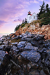 Sundown After A Storm At The Bass Harbor Head Light, Acadia National Park, Maine, USA