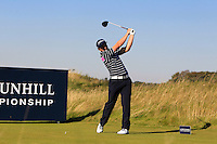 Paul Dunne (IRL) on the 11th tee during Round 1 of the 2015 Alfred Dunhill Links Championship at Kingsbarns in Scotland on 1/10/15.<br /> Picture: Thos Caffrey | Golffile