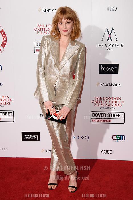 Emily Beecham at the 38th Annual London Critics' Circle Film Awards at the Mayfair Hotel, London, UK. <br /> 28 January  2018<br /> Picture: Steve Vas/Featureflash/SilverHub 0208 004 5359 sales@silverhubmedia.com