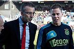 Nederland, Zwolle, 11 november  2012.Eredivisie.Seizoen 2012-2013.PEC-Zwolle-Ajax.Niklas Moisander van Ajax ziek geblesseerd uit