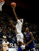 Reshanda Gray of California shoots the ball during the game against Kansas at Haas Pavilion in Berkeley, California on December 21st, 2012.  California defeated Kansas, 88-79.