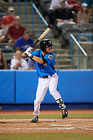 Hudson Valley Renegades second baseman Garrett Giovannelli (4) at bat during a game against the Tri-City ValleyCats on August 24, 2018 at Dutchess Stadium in Wappingers Falls, New York.  Hudson Valley defeated Tri-City 4-0.  (Mike Janes/Four Seam Images)