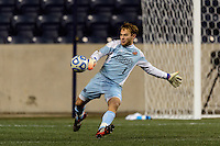 Notre Dame Fighting Irish goalkeeper Patrick Wall (1). The Notre Dame Fighting Irish defeated the Maryland Terrapins 2-1 during the championship match of the division 1 2013 NCAA  Men's Soccer College Cup at PPL Park in Chester, PA, on December 15, 2013.