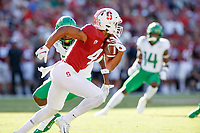 STANFORD, CA - SEPTEMBER 21: Michael Wilson #4 of the Stanford Cardinal returns a kickoff during a game between University of Oregon and Stanford Football at Stanford Stadium on September 21, 2019 in Stanford, California.