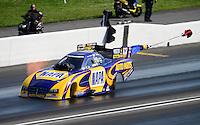 Jun. 16, 2012; Bristol, TN, USA: NHRA funny car driver Ron Capps during qualifying for the Thunder Valley Nationals at Bristol Dragway. Mandatory Credit: Mark J. Rebilas-