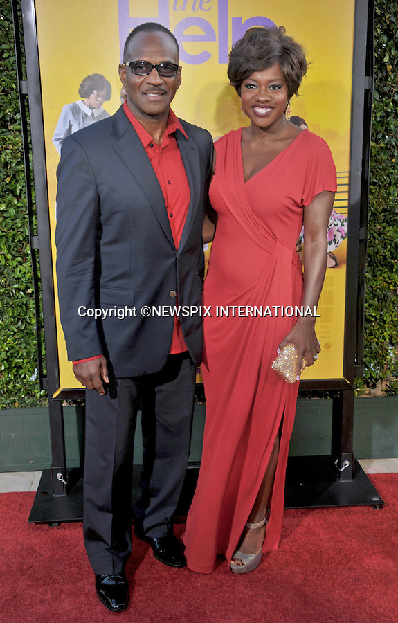 """VIOLA DAVIS AND JULIUS TENNON.attends """"The Help"""" World Premiere at the Samuel Goldwyn Theater, Beverly Hills, Westwood, Los Angeles_09/08/2011.Mandatory Photo Credit: ©Crosby/Newspix International. .**ALL FEES PAYABLE TO: """"NEWSPIX INTERNATIONAL""""**..PHOTO CREDIT MANDATORY!!: NEWSPIX INTERNATIONAL(Failure to credit will incur a surcharge of 100% of reproduction fees).IMMEDIATE CONFIRMATION OF USAGE REQUIRED:.Newspix International, 31 Chinnery Hill, Bishop's Stortford, ENGLAND CM23 3PS.Tel:+441279 324672  ; Fax: +441279656877.Mobile:  0777568 1153.e-mail: info@newspixinternational.co.uk"""