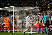 6th December 2017, Santiago Bernabeu, Madrid, Spain; UEFA Champions League football, Real Madrid versus Dortmund; Cristiano Ronaldo dos Santos (7) Real Madrid puts the ball past Roman Burki (38) Borussia Dortmund for a goal but disallowed for offside