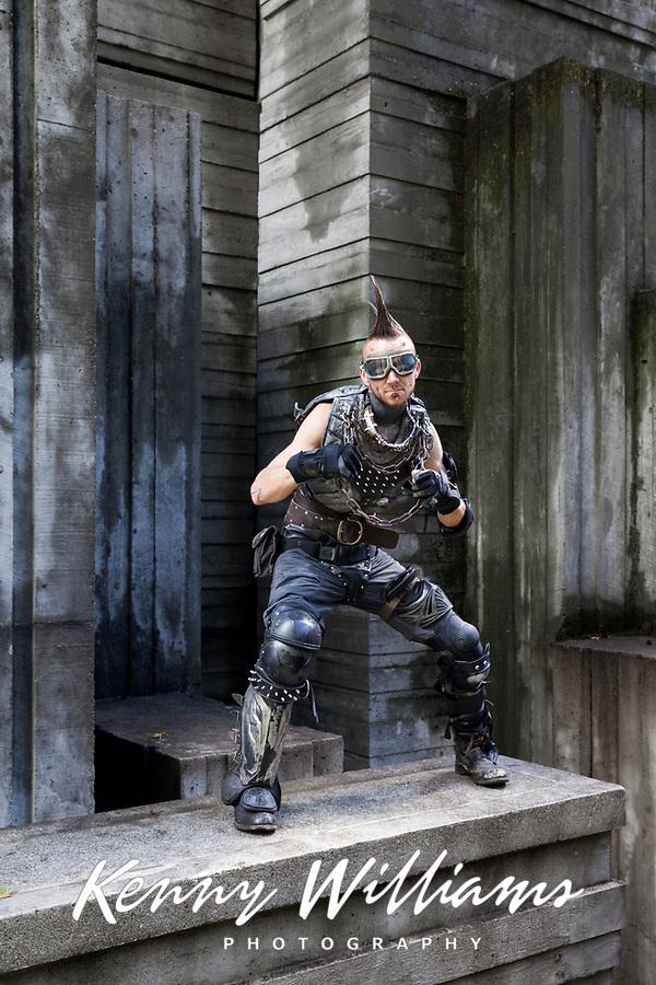 Mad Max Cosplayer, Pax Prime 2015, Seattle, Washington State, WA, America, USA.