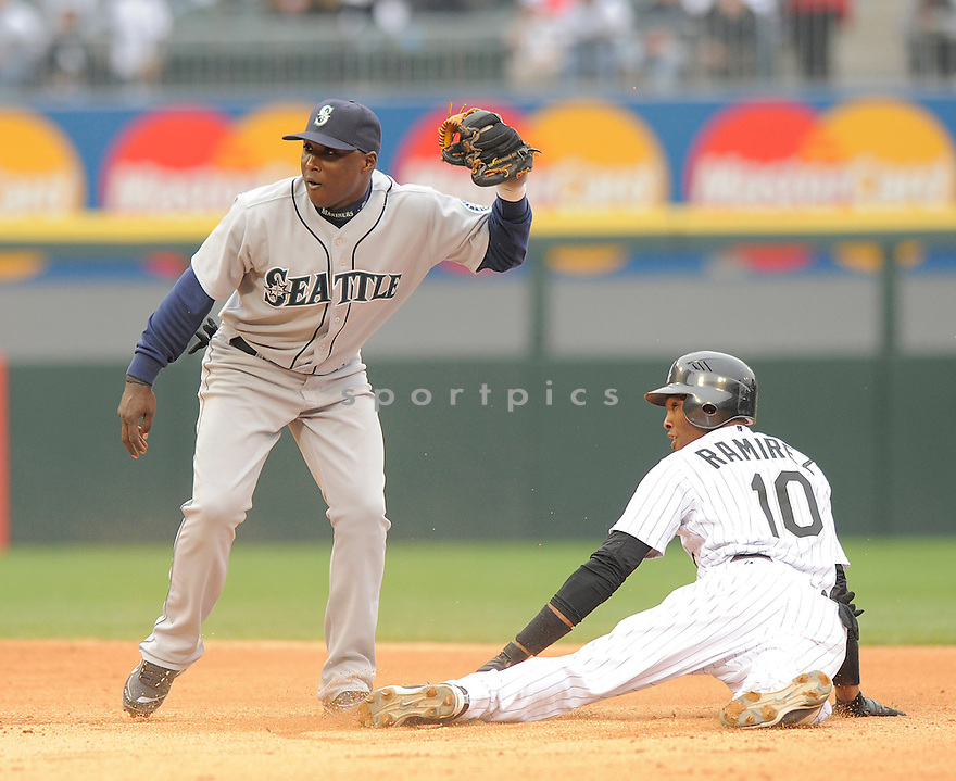 YUNIESKY BETANCOURT, of the Seattle Mariners  , in action  during the Mariners  game against the Chicago White Sox on April 28, 2009 in Chicago, IL.  The White Sox beat  the Mariners  6-3  in Chicago,