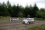 14th September 2012 - Devils Bridge - Mid Wales : WRC Wales Rally GB SS6 Myherin stage : Nasser Al Attiyah (QAT) and Giovanni Bernacchini (ItA) in their Citroen DS3 WRC.