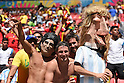 Argentina fans (ARG),<br /> JULY 5, 2014 - Football / Soccer :<br /> An Argentina fan wearing a mask of Diego Maradona during the FIFA World Cup Brazil 2014 Quarter-finals match between Argentina 1-0 Belgium at Estadio Nacional in Brasilia, Brazil. (Photo by FAR EAST PRESS/AFLO)